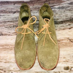 Frye Green Suede Shoes